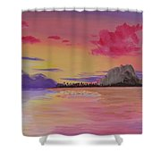 A Warm Happy Place Shower Curtain