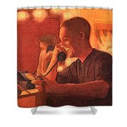 A Warm Smile Shower Curtain