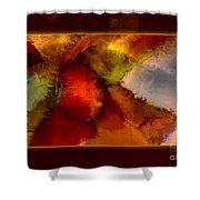 A Warrior Spirit Abstract Healing Art Shower Curtain