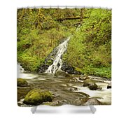 A Waterfall Into Oneida Creek Shower Curtain