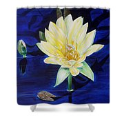A Waterlily Shower Curtain