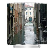 A Waterway Of Venice  Shower Curtain