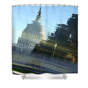 A Watery Capitol Shower Curtain