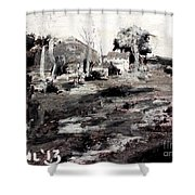 A Wayside By George Bruestle Shower Curtain
