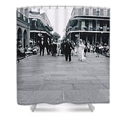 A Wedding In Jackson Square Shower Curtain