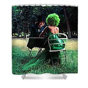 A Very Green Weekend In The Country Shower Curtain