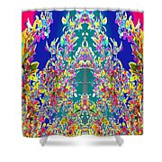 A Welcome Art Colorful Full Of Energy   The Digital Graphics Have Been Derived From Nature Photograp Shower Curtain