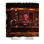 A Welcome From Santa Shower Curtain