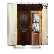 A Welcoming Door Shower Curtain
