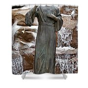 A Welcoming Jesus Shower Curtain