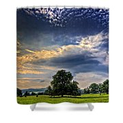 A Welsh Meadow Shower Curtain