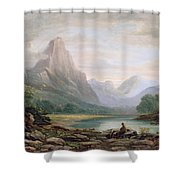 A Welsh Valley, 1819 Shower Curtain