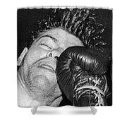 A Welterweight Uppercut Shower Curtain