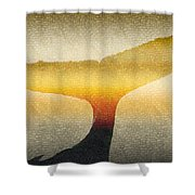 A Whales Tale Shower Curtain