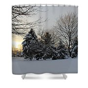 A White Winter's Morning Shower Curtain