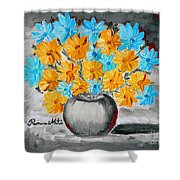 A Whole Bunch Of Daisies Selective Color II Shower Curtain