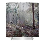 A Wickham Misty Morning Shower Curtain