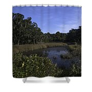 A Wide Expanse Of Marsh Shower Curtain