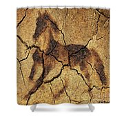 A Wild Horse - Wal Art Shower Curtain