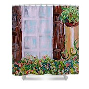 A Window View Shower Curtain