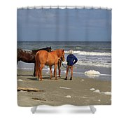 A Windy Day At Hunting Island Beach Shower Curtain