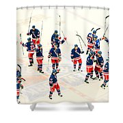 A Winning Salute Shower Curtain