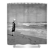A Winter Day At Miami Beach Shower Curtain