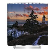 A Winter Dusk At West Quoddy Shower Curtain