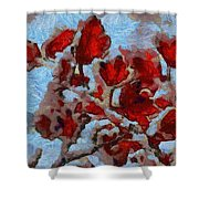 A Winter Eden Shower Curtain