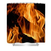A Winter Fire Shower Curtain