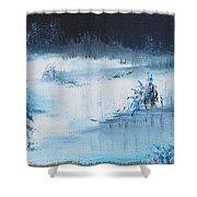 A Winter Scene Shower Curtain