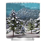 A Winter Scene... Shower Curtain