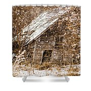 A Winter Shed Shower Curtain
