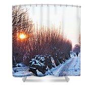 A Winter Wonderland Walk Shower Curtain