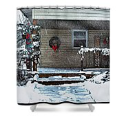 A Wisconsin Christmas Shower Curtain
