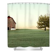 A Wisconsin Postcard Shower Curtain