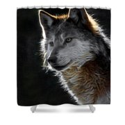 A Wolf 2 Digital Art  Shower Curtain