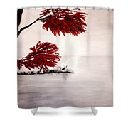 A Wolf's Cry To The Moon Shower Curtain