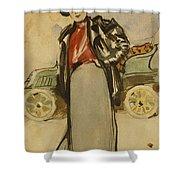 A Woman Driver Shower Curtain