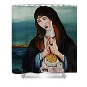 A Woman In Prayer Shower Curtain by Joseph Demaree