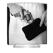 A Woman Scorned Shower Curtain by Edward Fielding
