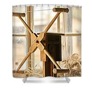 A Womans Work Is Neverdone Shower Curtain