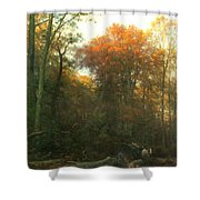 A Woodcutter At Work Shower Curtain
