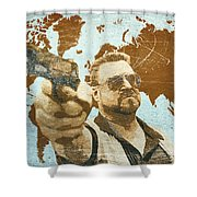 A World Of Pain Shower Curtain by Filippo B