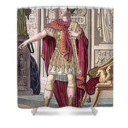 A Young Emperor In His Imperial Armour Shower Curtain