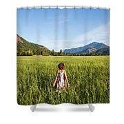 A Young Girl, Daughter Of A Farmer Shower Curtain