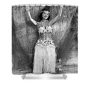 A Young Hawaiian Hula Woman Shower Curtain