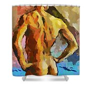 A Young Man Shower Curtain