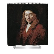 A Young Man Perhaps The Artist's Son Titus Shower Curtain