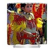 A Young Warrior Shower Curtain
